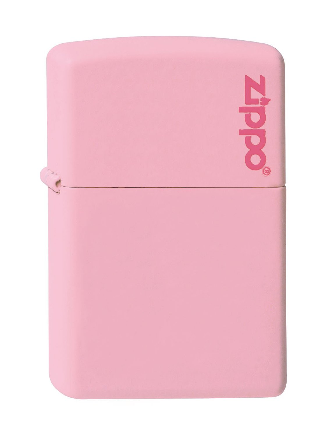 Zippo Classic 218 Black Matte 238zl Pink Windproof Lighter With Logo